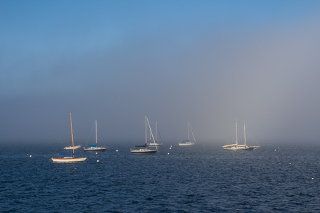 Fog on Casco Bay